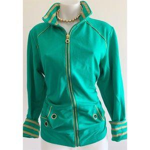 Green/Gold Vintage Track Jacket Medium